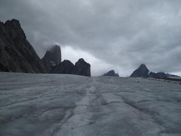 Looking up the Glacier
